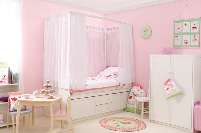 Kids White Four Poster Bed Childrens Bed Centres